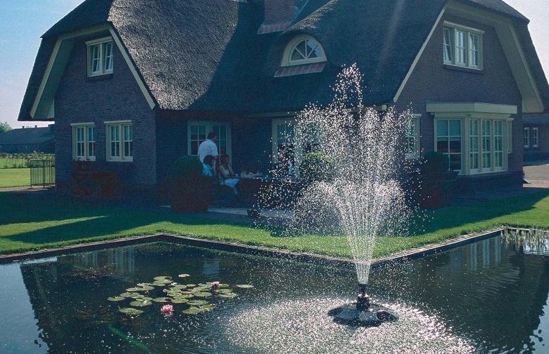 Плавающий фонтан - изюминка на вашем участке