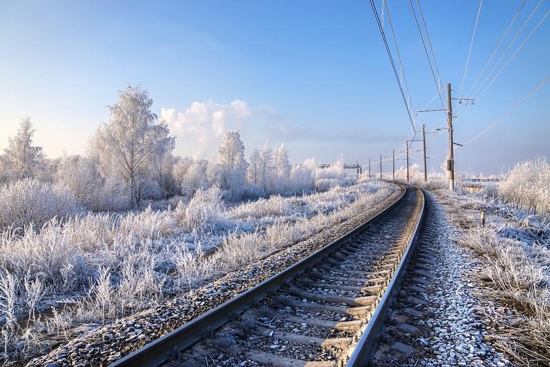 Железнодорожный транспорт работает без сбоев в движении