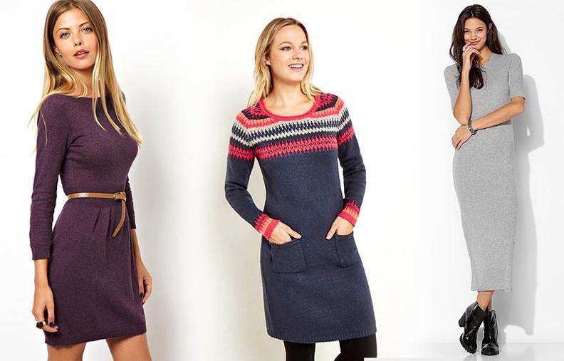 Советы по выбору вязаного платья