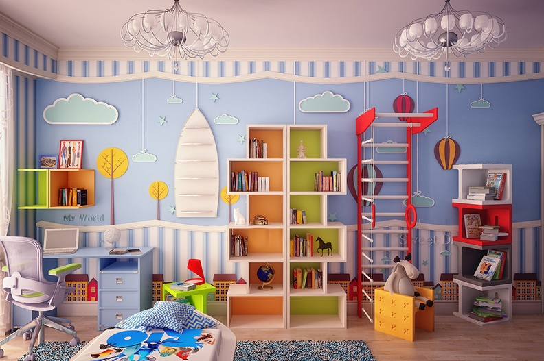 Из чего состоит спортивный уголок в детскую комнату