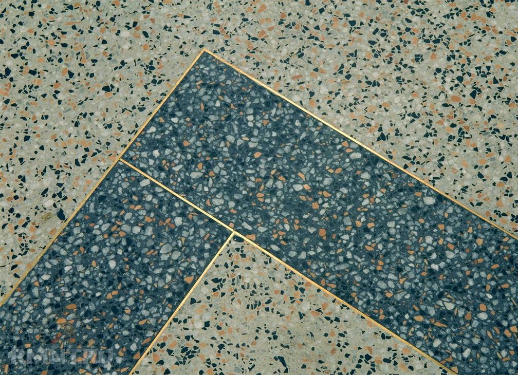 Мозаичный бетон: сфера использования и преимущества материала